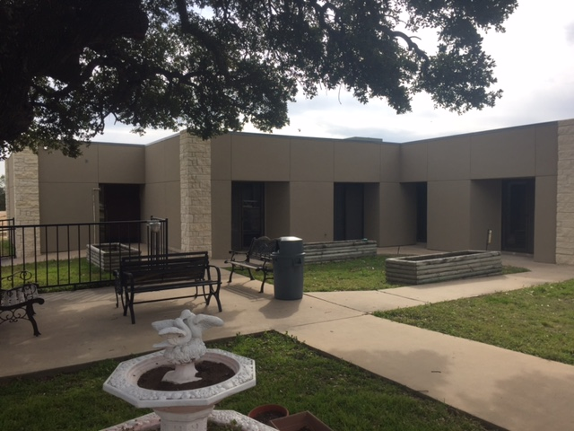 Bertram Nursing and Rehab Center Courtyard, Bertram skilled nursing facility